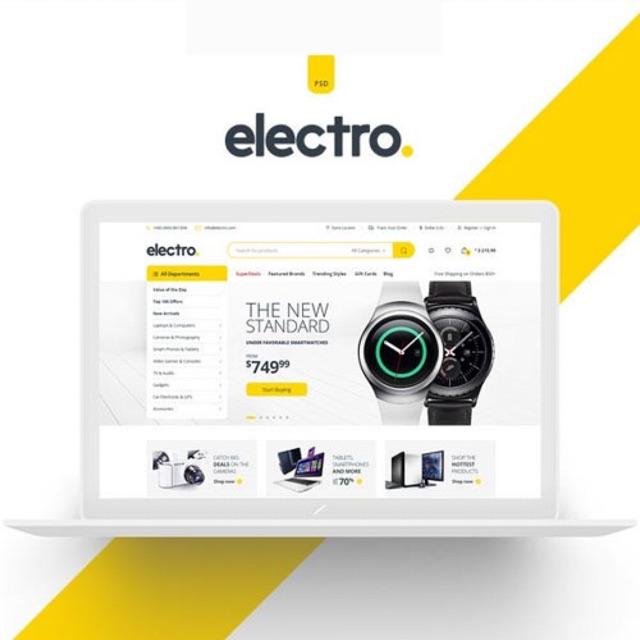 Menjual Jasa Desain Di Shopee: Electro Electronics Store WooCommerce Theme Wordpress