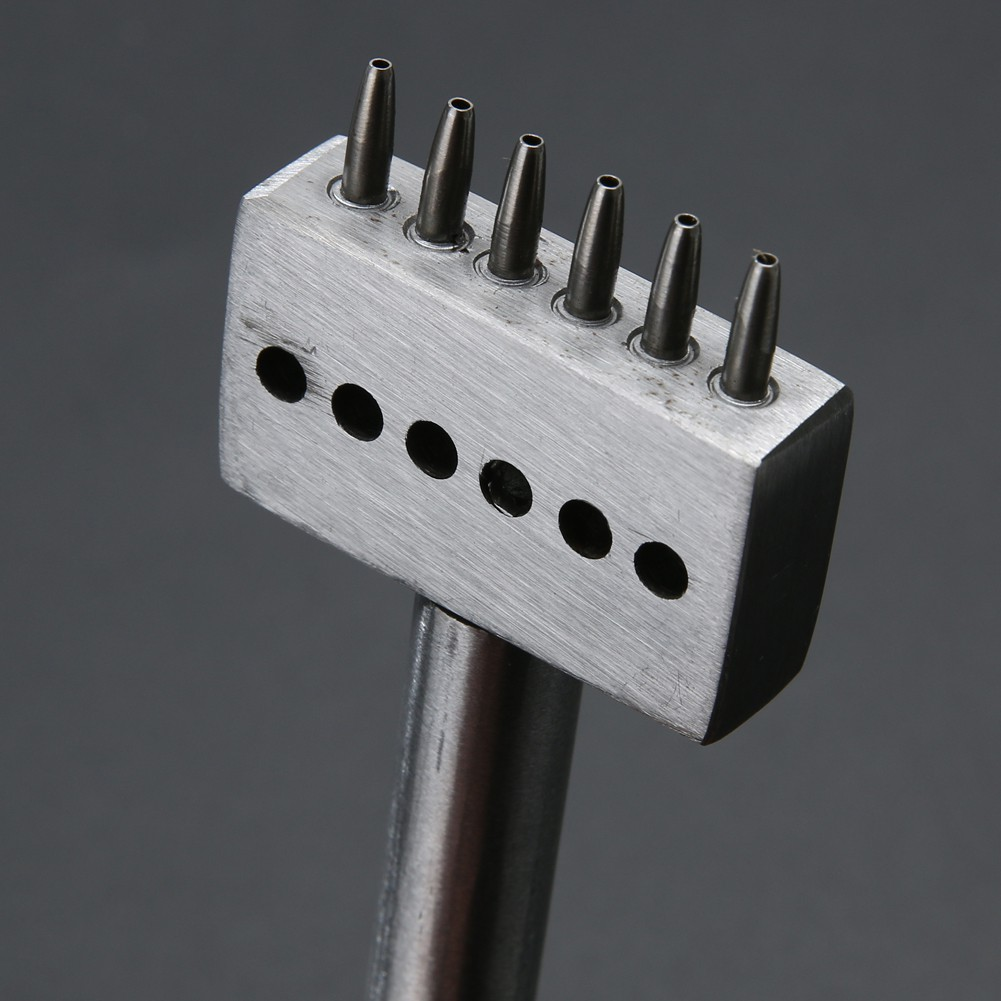 Leather Craft 1.0mm Round Row Hole Punch Stitching Cutter Tool 4-8mm Spacing