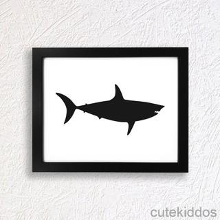 8800 Koleksi Gambar Hitam Putih Ikan Hiu Gratis Terbaik