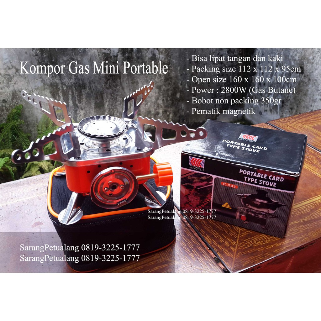 Kompor Mini Portable Lipat Camping Outdoor Gunung Stove Gas K 202 Outdor Shopee Indonesia