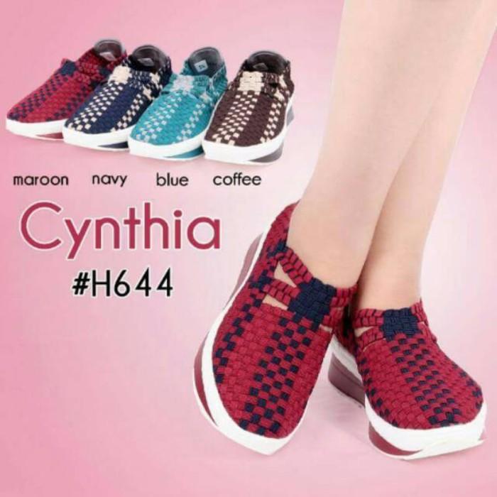 (Original) Cynthia Woven Shoes Sepatu Rajut Anyaman H644 Q1623   Shopee Indonesia
