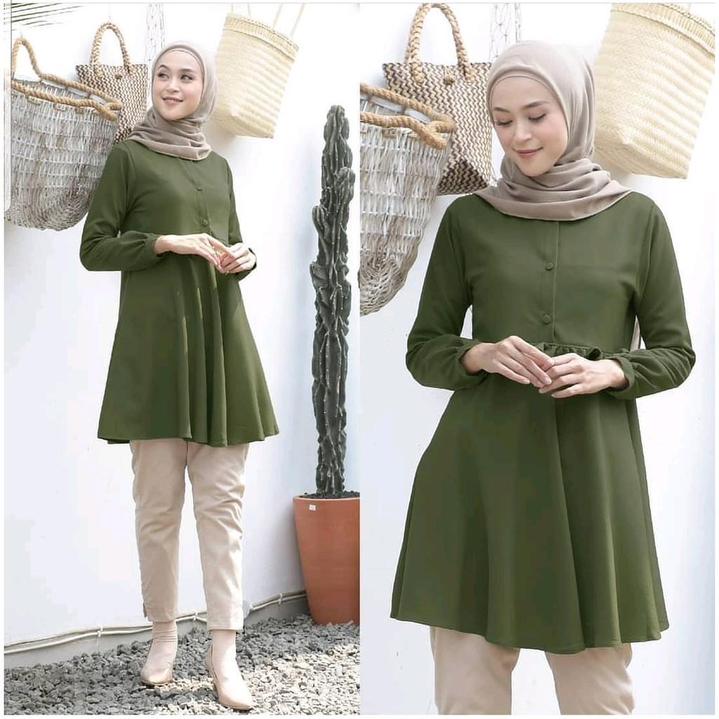 Baju Atasan Wanita Terbaru Baju Rafelia Tunik Muslim Murah ...