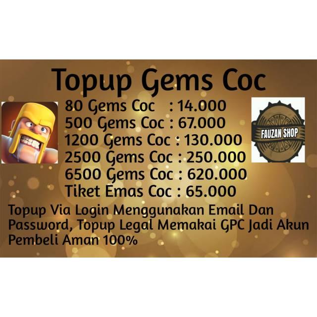 Top Up Gems Coc Legal Via Login