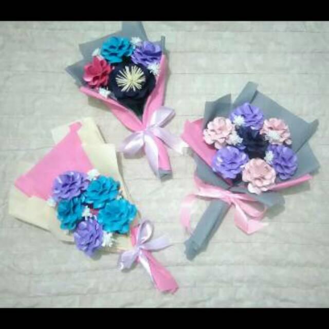 Buket Bunga Kertas Bouquet Paper Flower Hand Bouquet Shopee Indonesia