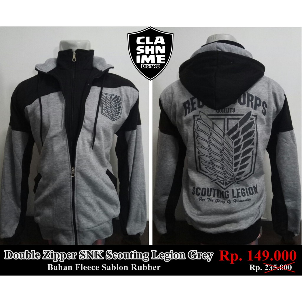 Zipper Anime Attackontitan Jaket Aot Best Seller Green Dimana Beli Jaket Attack On Titan JA SNK