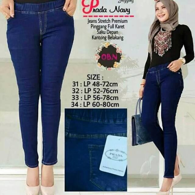 Penta Jegging Rifas Jeans Hw Pinggang Karet Celana Leging Murah Jumbo Celana Jeans Wanita Cewek Shopee Indonesia