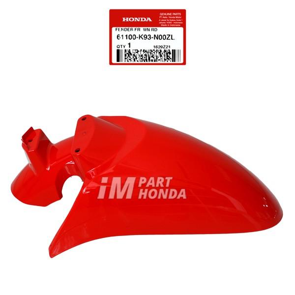 61100-K93-N00ZL Slebor Spakbor Depan Scoopy eSP K93 2017 Merah Sporty Red