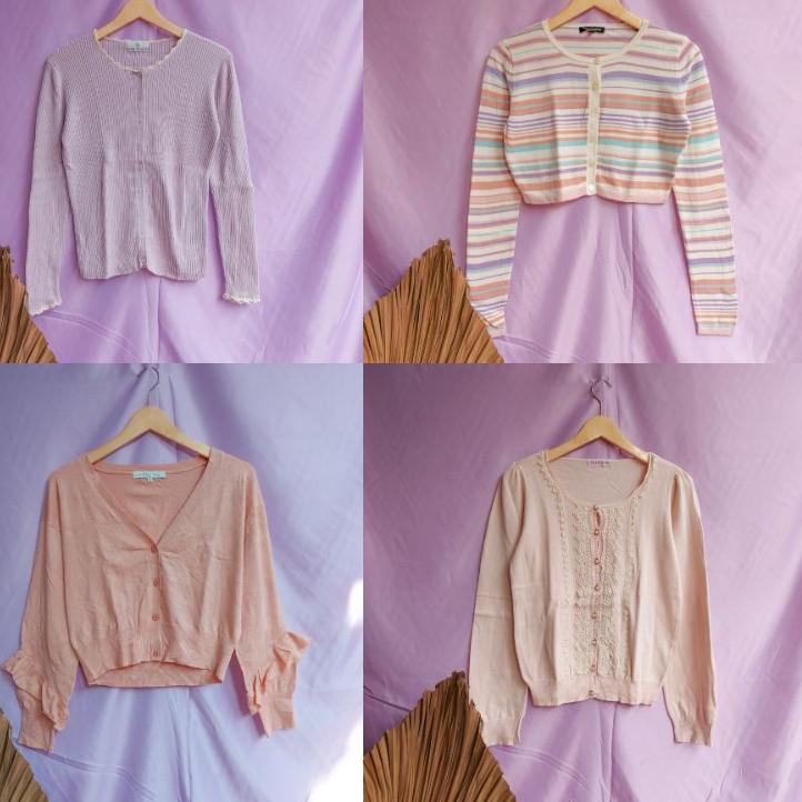 vintageglam.id mini bal knitwear atasan rajut dan cardigan 5 kg paket usaha thrift borongan ball