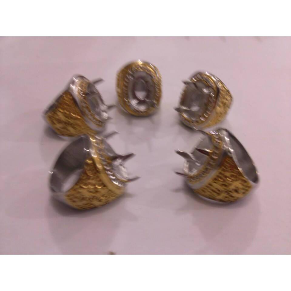 Grosir Ring Emban Ikat Cincin Titanium Kombinasi Larva Shopee Alpaka Bakar Polos Size Standart Lokal Indonesia