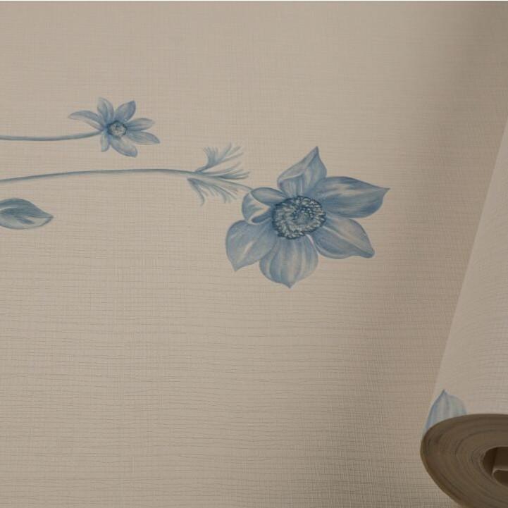 Wallpaper Cantik Bunga Biru 10mx53cm Shopee Indonesia
