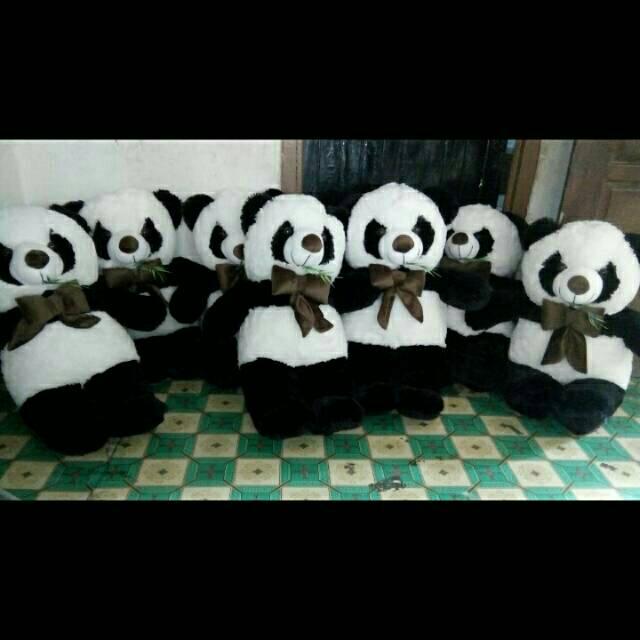 Boneka Panda ukuran XL JUMBO Tinggi 80 makan rumput  eb51805787