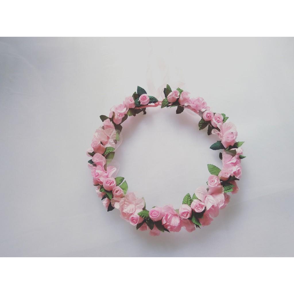 L I M T D E Leaf Bride To Be Rose Flower Crown Mahkota Bunga Bando Pink Cantik Ala Princess Handmade Headband Murah Meriah Shopee Indonesia
