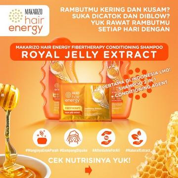 Makarizo Hair Energy Fibertherapy Conditioning Shampoo 170ml   330ml-Royal Jelly
