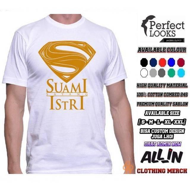 Kaos Suami Sayang Istri Logo Supermen Suami Sayang Istri Kaos Suami Istri Keren Shopee Indonesia