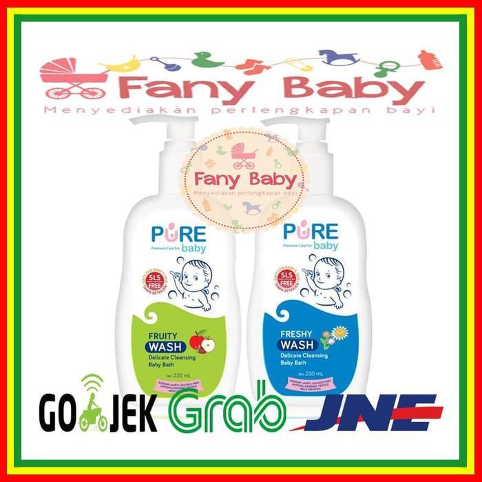 Sabun Bayi - Pure Baby Wash 2 In 1 Bath & Shampo Fruity & Freshy 230Ml