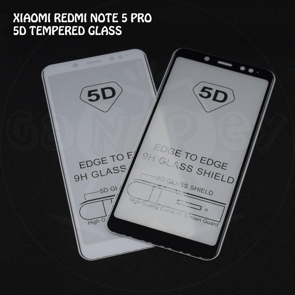Vbox Xiaomi Redmi Note 5 Pro Tempered Super Glass 5D Full Screen Full Glue Full Lem