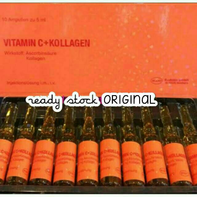 Pemutih Seluruh Badan Vitamin C Collagen Colagen Kolagen Rodotex Merah Original VC Ori Hologram Asli   Shopee Indonesia