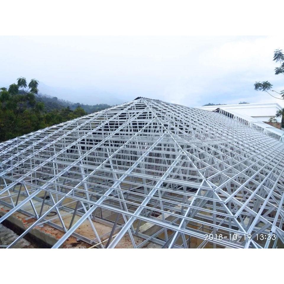 Rangka Atap Baja Ringan Terpasang Model Limas di Blitar - Atap Galvalum