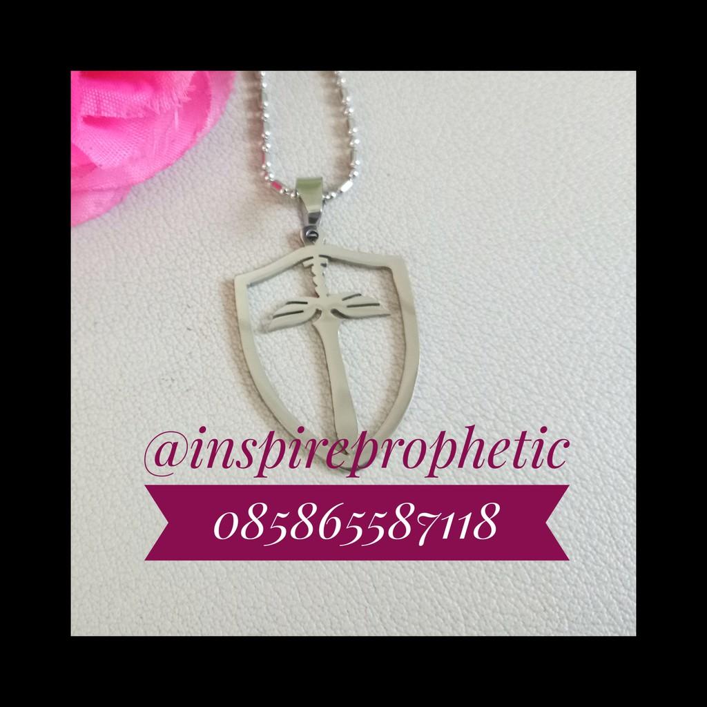 Kalung Perisai Iman Aksesoris Souvenir Gift Hadiah Kado Rohani Kristen Benda Profetik Prophetic
