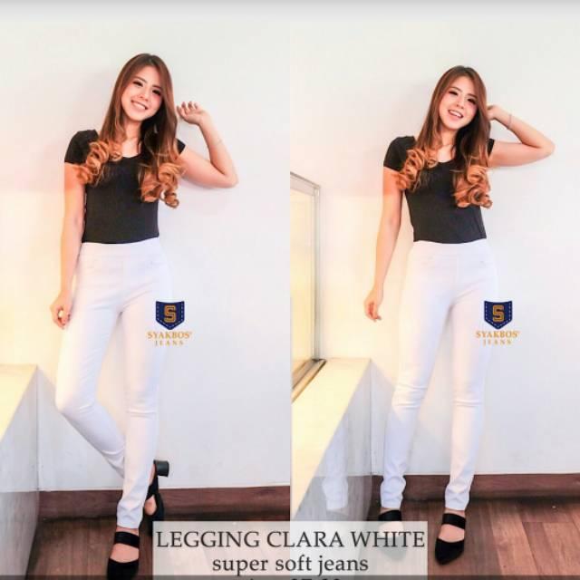 Celana Jeans Syakbos Legging Clara White