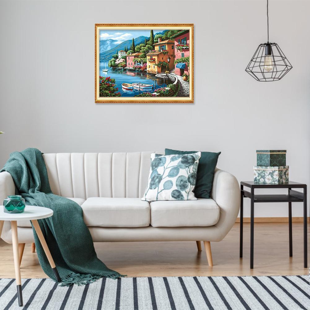 Lukisan Diamond 5d Diy Gambar Pemandangan Untuk Dekorasi Rumah