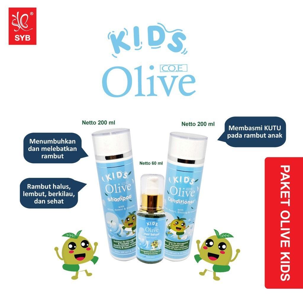 SYB CO.E Olive Hair Treatment - Shampoo Conditioner Tonic Black Kemiri Oil Mask Serum Kids-8