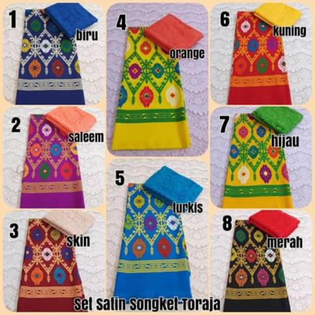 Set kain kebaya bali murah bahan brukat brokat dan satin Jessica | Shopee Indonesia
