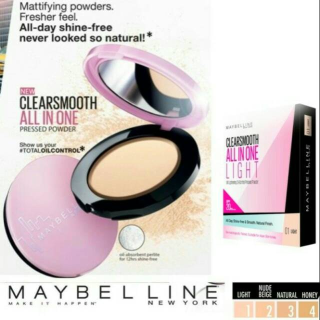 Maybelline Clear Smooth All In One Two Way Cake - Sand Beige | Shopee Indonesia
