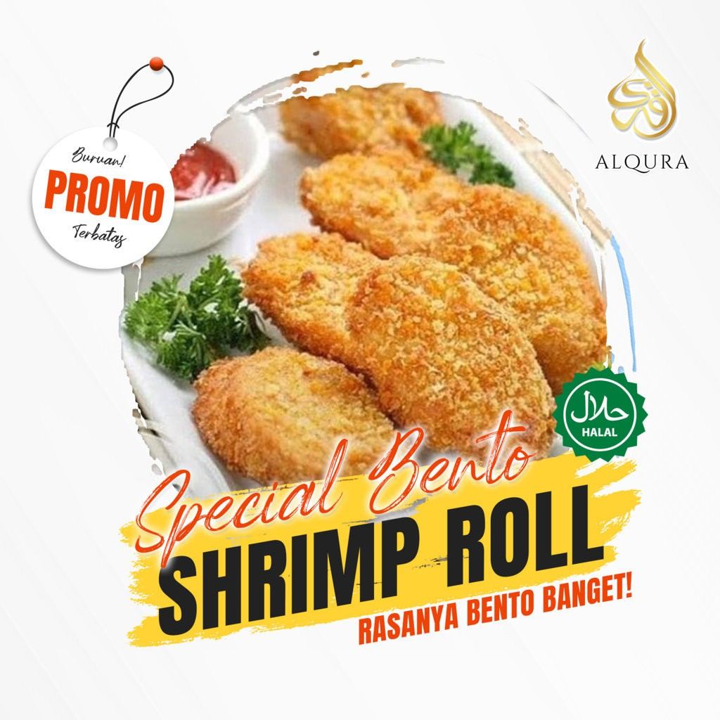 Bento Shrimp Roll Nugget Bento Udang Gulung Telur Enak Lezat Halal Shopee Indonesia