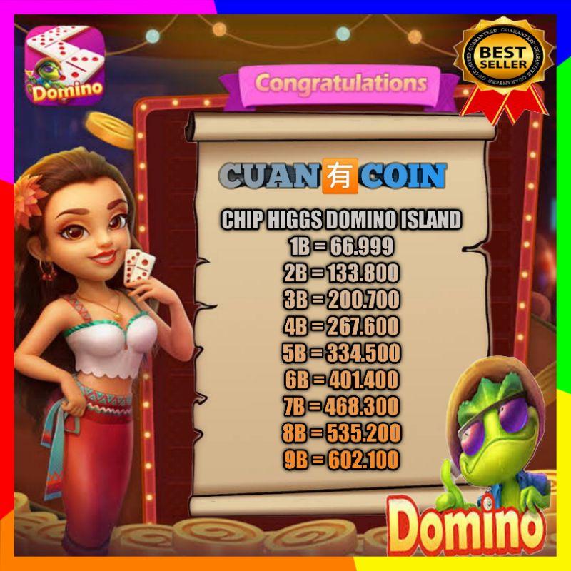 KOIN DOMINO - KOIN CHIP HIGGS DOMINO ISLAND - CHIPS DOMINO ISLAND 1B- 5B TERMURAH
