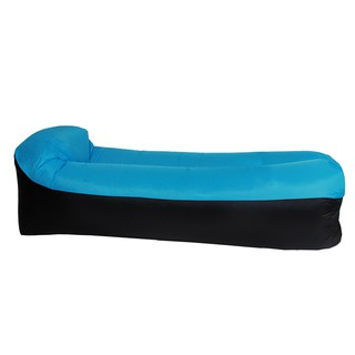 Lazy Inflatable Air Bed Lounger Couch Chair Sofa Bag Hangout Camping Beach Outdoor Portable Air Sleeping Bag Foldable Inflatable Cushion Shopee Indonesia