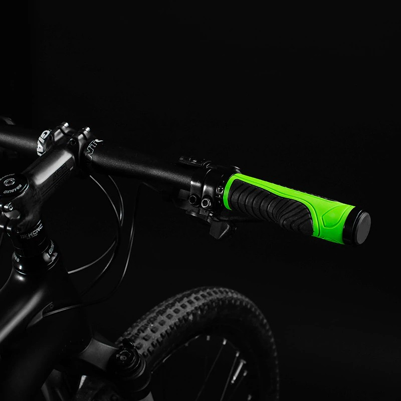 MTB Bicycle Grips Lock-on TPR Rubber Integrated Shock Absorption