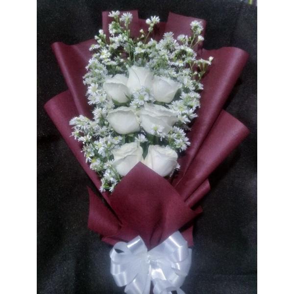 buket bunga mawar asli murah