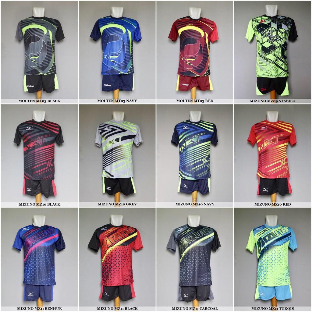 Baju Kaos Olahraga Volley Jersey Voli Setelan Volley Mizuno Molten Termurah   374e656206