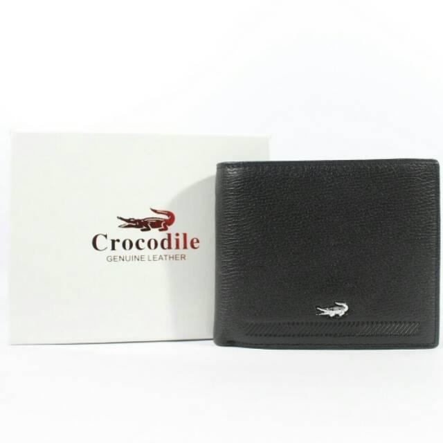 Dompet kulit asli pria import branded crocodile - WL12CRO Black ... dc83f39d89