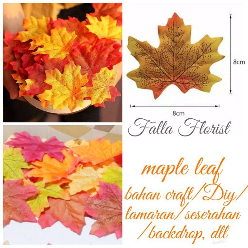 Daun Maple Maple Leaf Artificial Bahan Craft Lamaran Seserahan Backdrop Dll Shopee Indonesia