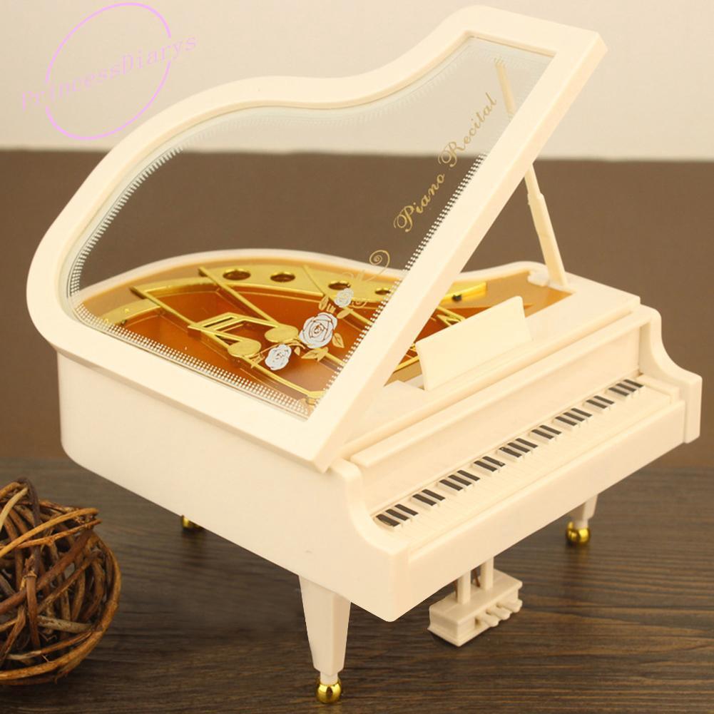 Kotak Musik Desain Piano Mini Kreatif Bahan Metal Antik ...