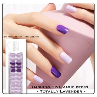 DASHING DIVA magic press manicure - TOTALLY LAVENDER (fake nail, kuku palsu korea) thumbnail