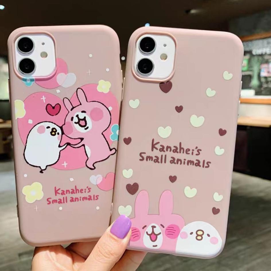(W64) Case Pink Bunny Oppo A52 A92 A5 A9 2020 A5s A7 A12 A3s A1k Realme C2 Vivo Y12 Y15 Y17 Y91 Y93