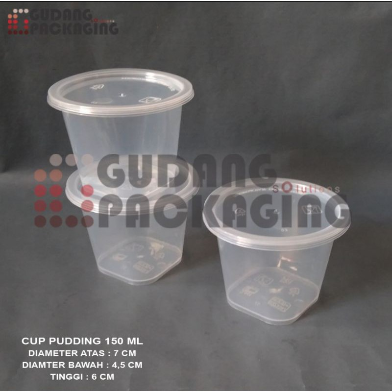 THINWALL CUP 150ML / PUDDING DESSERT CUP 150ML / ICE CREAM CUP 150 ML ISI 25 PCS