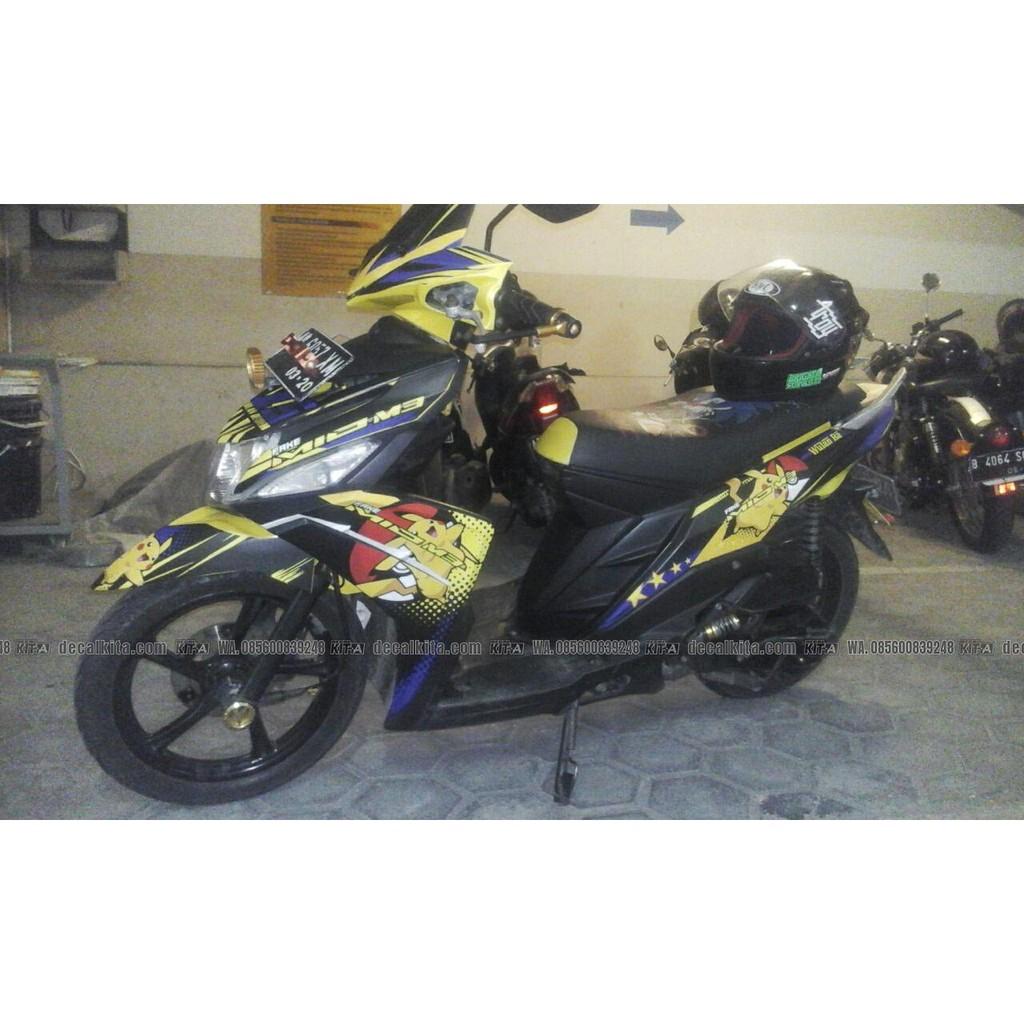 Striping sticker lis motor variasi yamaha mio m3 mio z movistar 1 3 shopee indonesia