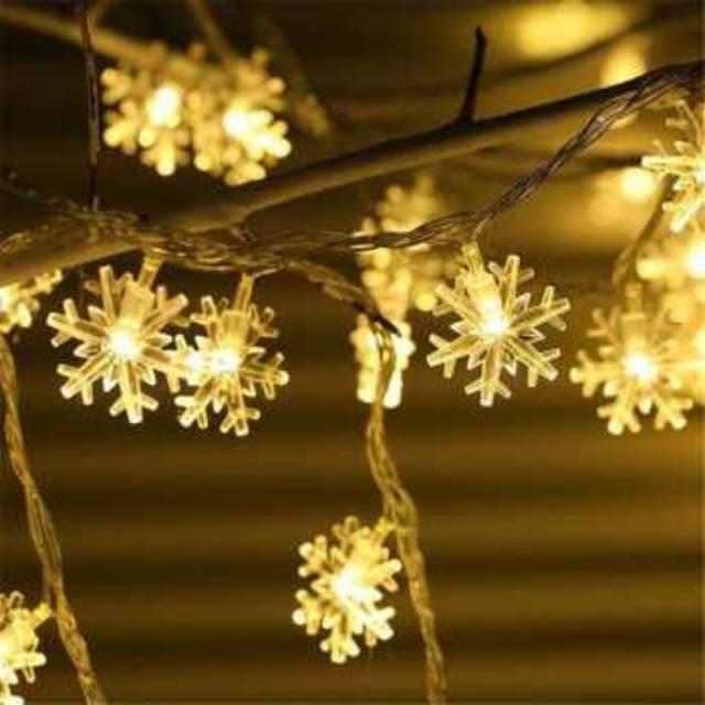 Lampu Hias Dekorasi Snowflake Christmas
