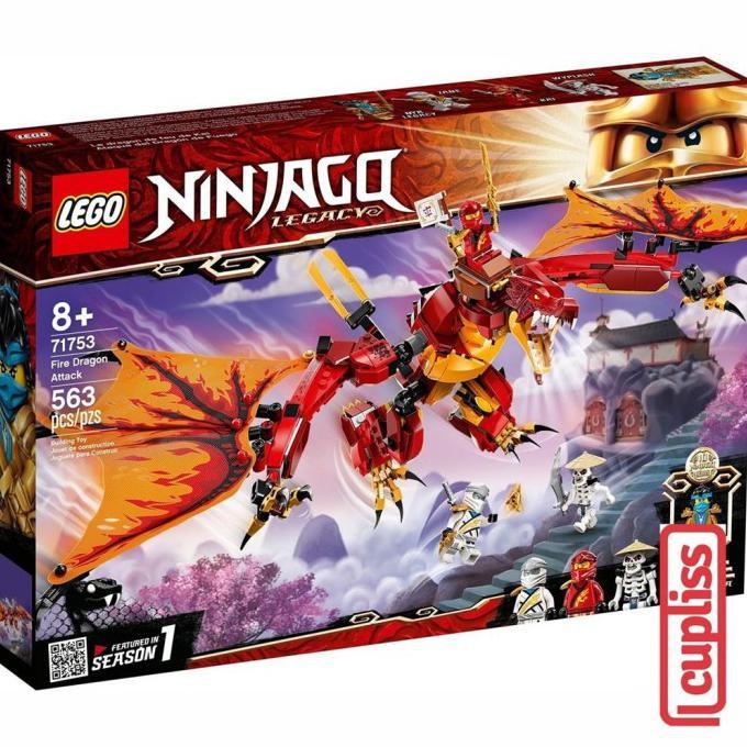 cod lego ninjago 71753 fire dragon attack  shopee indonesia