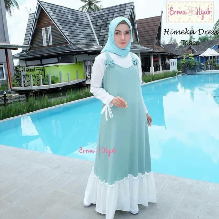 Baju Gamis Wanita Remaja Baju Muslim Wanita Yang Modern Murah Yellow Shopee Indonesia