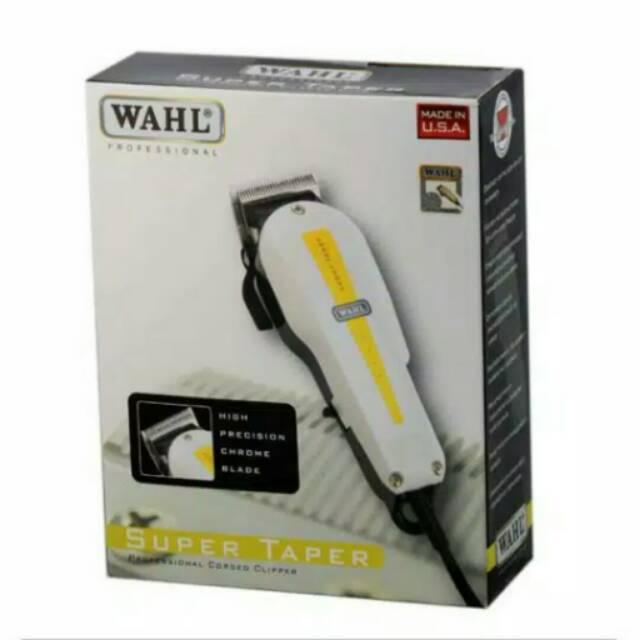 Mesin gunting listrik WAHL SUPER TAPER alat cukur pangkas potong rambut  yang bagus dan tajam  72f86382f7
