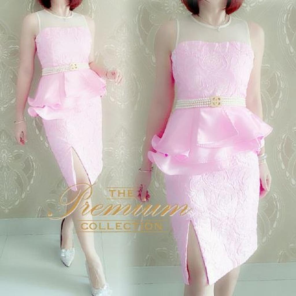 Gaun Pesta Premium Dress Elegan Gaun Pesta Gaun Mewah Dress Import