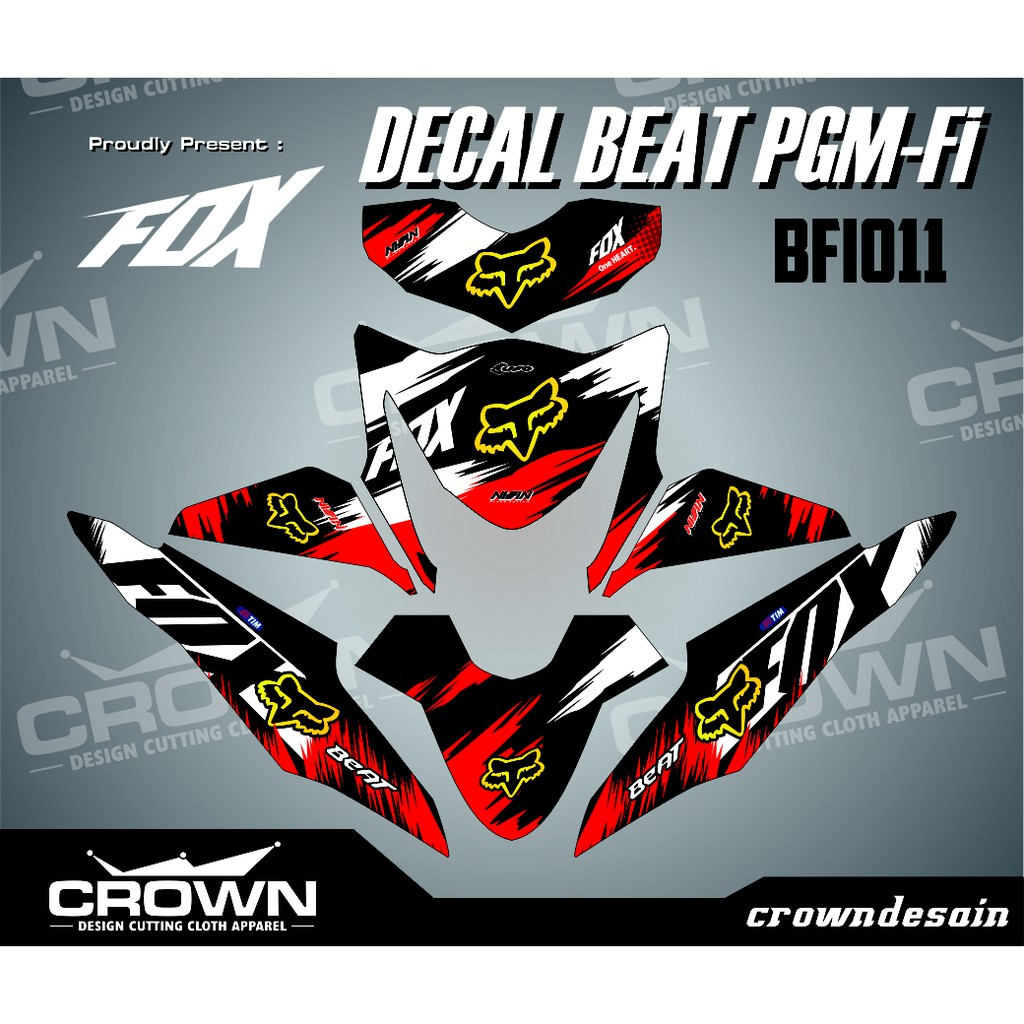Decal beat pgm fi ktm prorace shopee indonesia