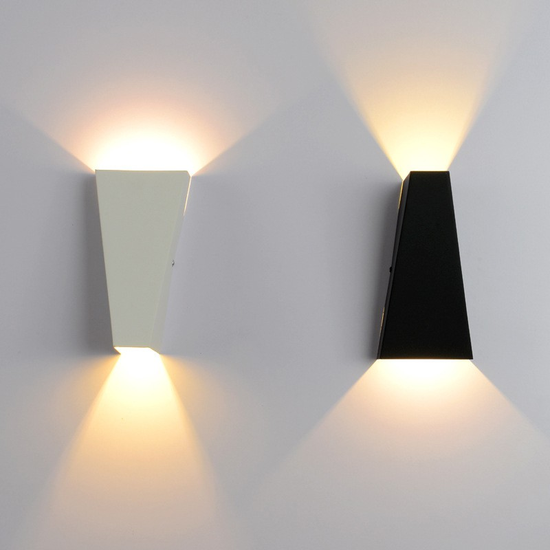 Led Wall Light For Home 2head Geometry