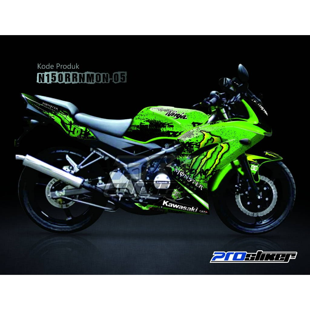 Jual Striping Modif Ninja 150 Rr New Motif Monster Energy Prostiker Semua Siap Kirim