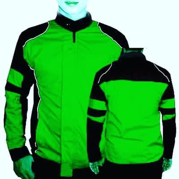 Jacket Ojek Online Jaket Polos Anti Air Hijau Hijau Muda L Shopee Indonesia